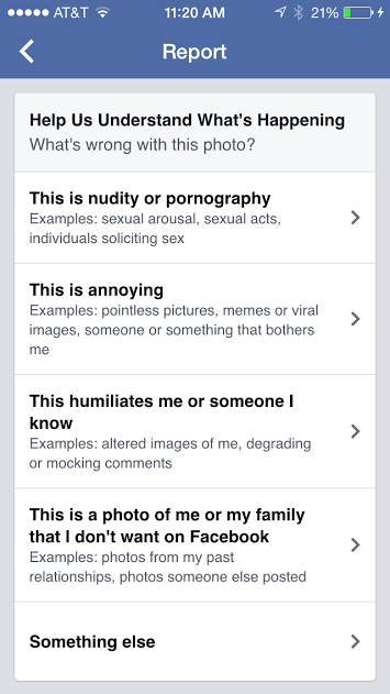 On Facebook And Their Community Standards Trigger Warning Yall