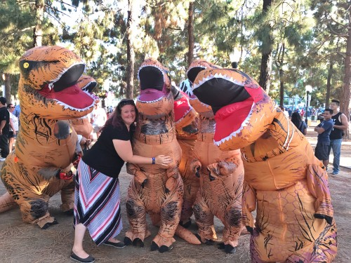 Look at this memory being made: ME AND DINOSAURS. Best day ever, basically.