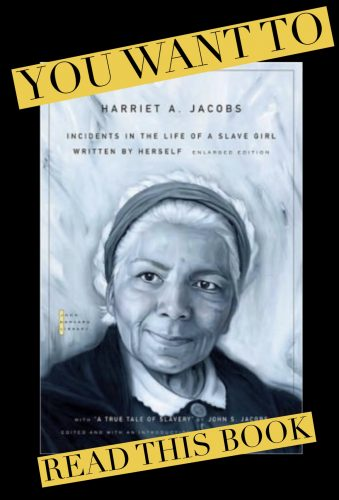 """Pictured: Cover of Harriet's book, """"Incidents in the Life of a Slave Girl"""""""
